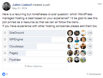 2014-Managed-WordPress-хостинг-FB-Poll