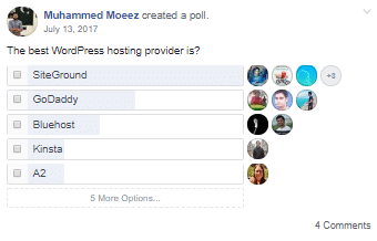 Best-WordPress-hosting-leverandør-Poll