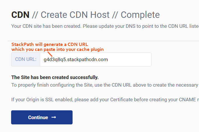 CDN URL StackPath