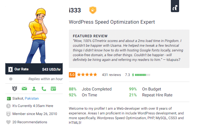 WordPress Freelancer Speed ​​Optimization Expert