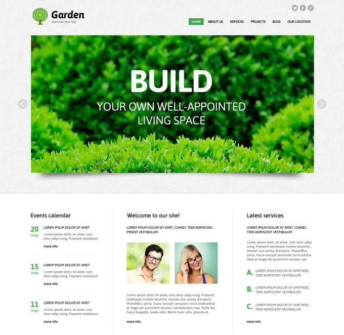 """Garden WordPress"" tema"