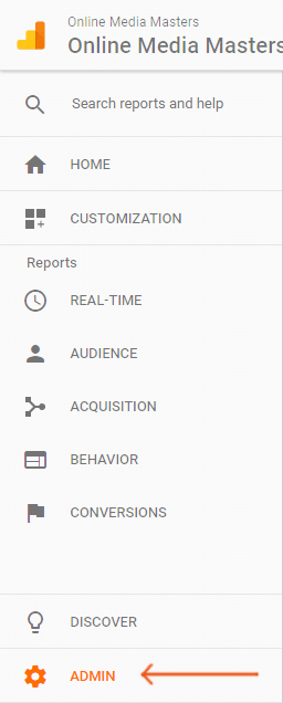 Google-Analytics-Admin-Tab