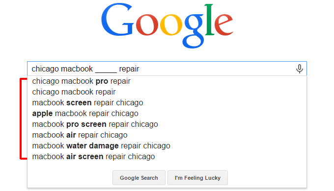 Google Autocomplete Invullen The Blank