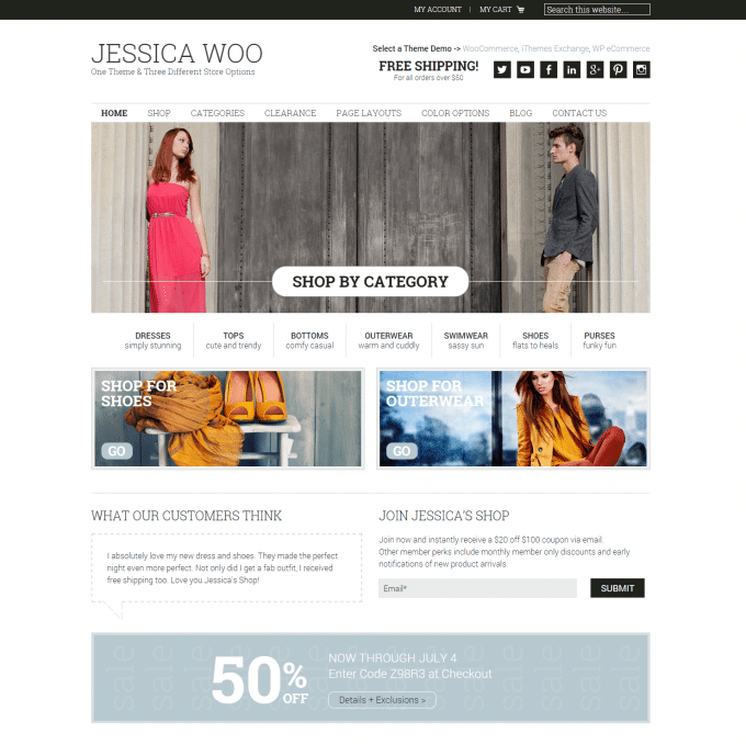 Jessica WordPress eCommerce Tema