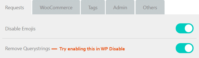 Remove-Querystings-WP-Disable