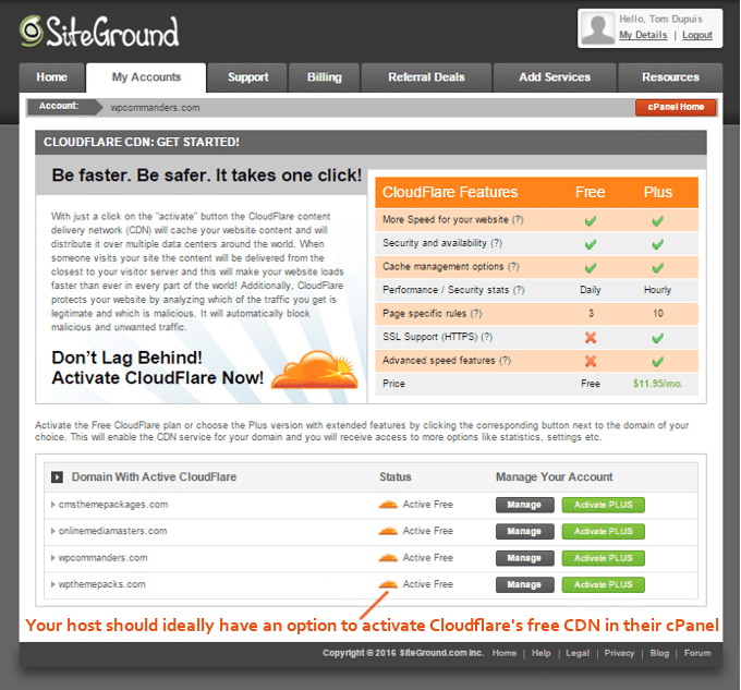 SiteGround-Cloudflare-activation
