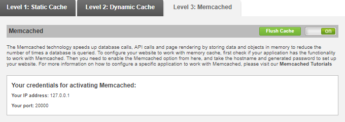 SiteGround-Memcached