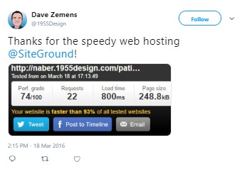 SiteGround Speedy Hosting