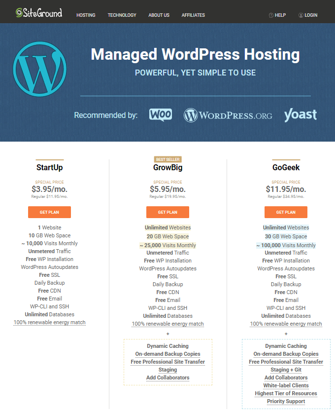 SiteGround Hosting WordPress