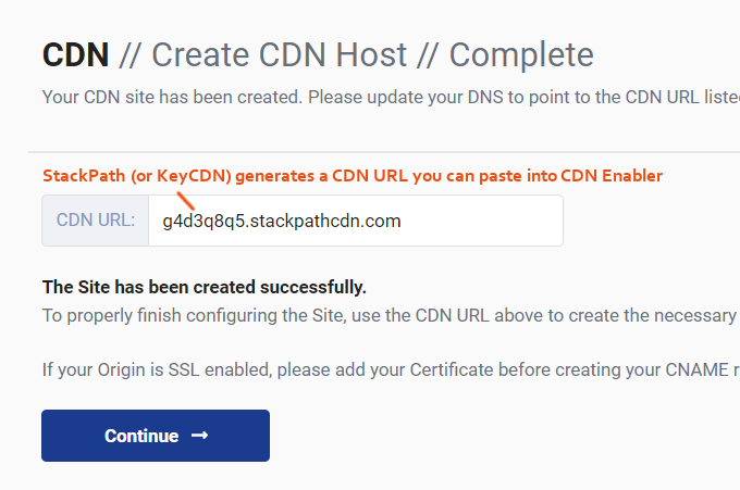 StackPath CDN URL