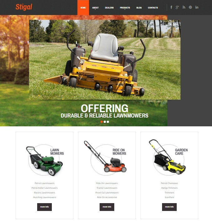 Stigal WordPress Landscaper Téma