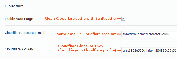Swift-Изпълнение-Cloudflare-Settings
