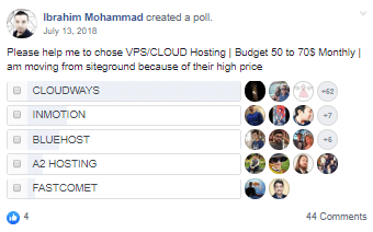 VPS Cloud Hosting Poll