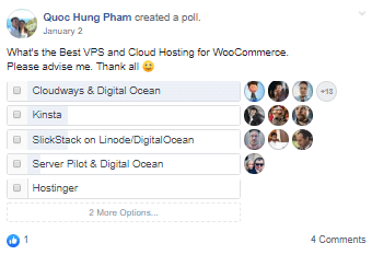 Ang VPS Cloud Hosting WooCommerce Poll