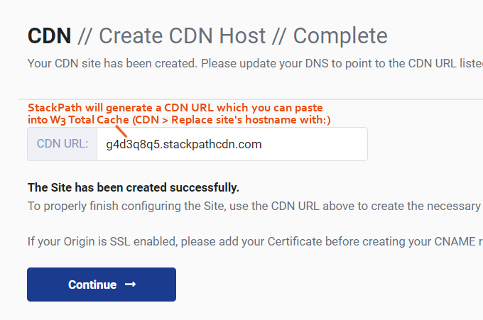W3-Total-Cache-StackPath-CDN-URL