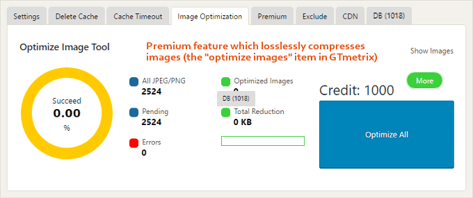 WP-Cel mai rapid-cache-Image-optimizare