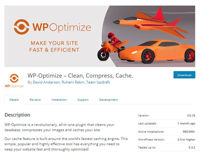 WP-Optimize ang plugin