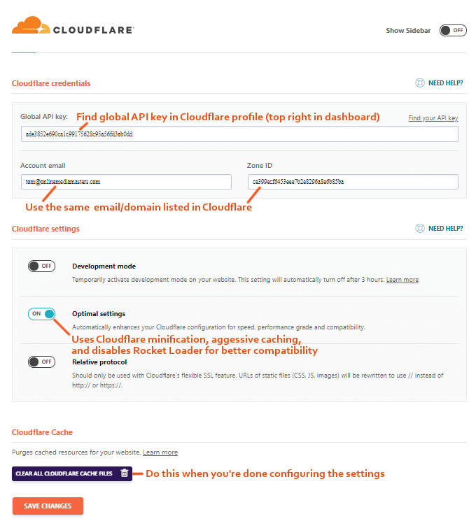 WP-ракета-Cloudflare-Add-On