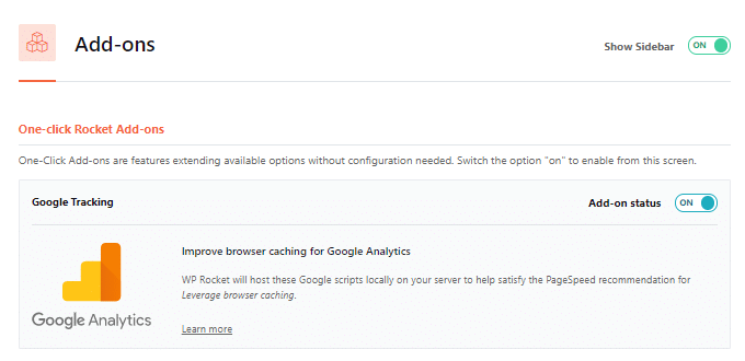 WP Rocket Local Analytics