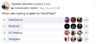 WordPress Web Host Poll