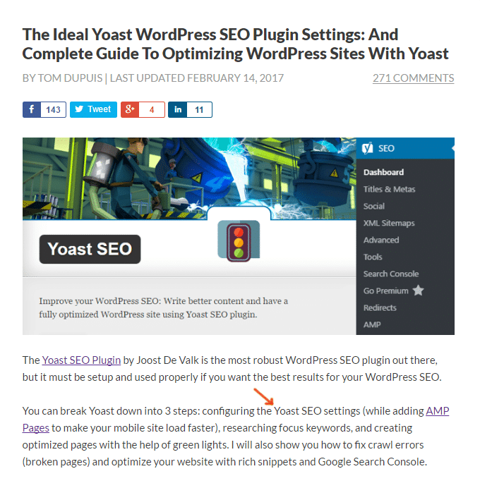 Yoast FOcus Keyword Density