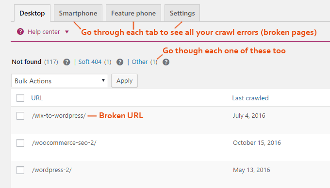 Yoast-search-console-crawl-error