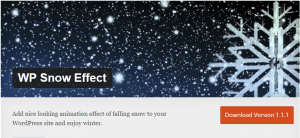 WP Snow Effect