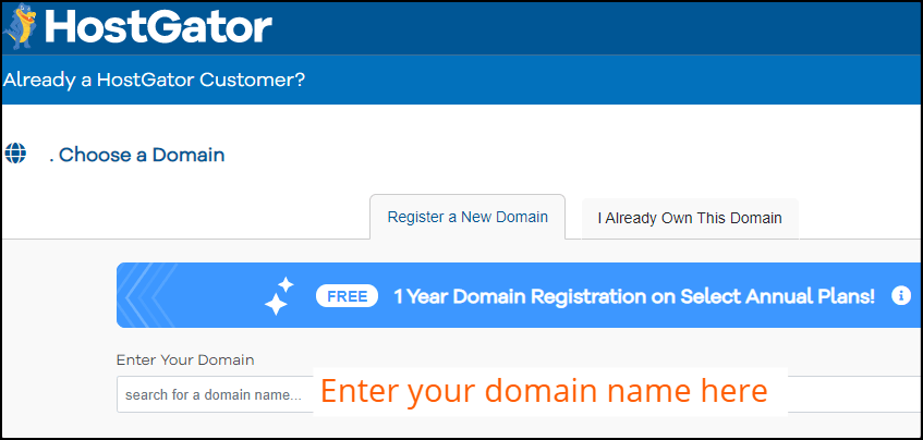 HostGator-domeinregistratie